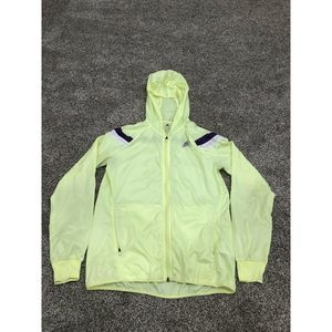 Adidas Running S Windbreaker Neon Yellow Zip Hood